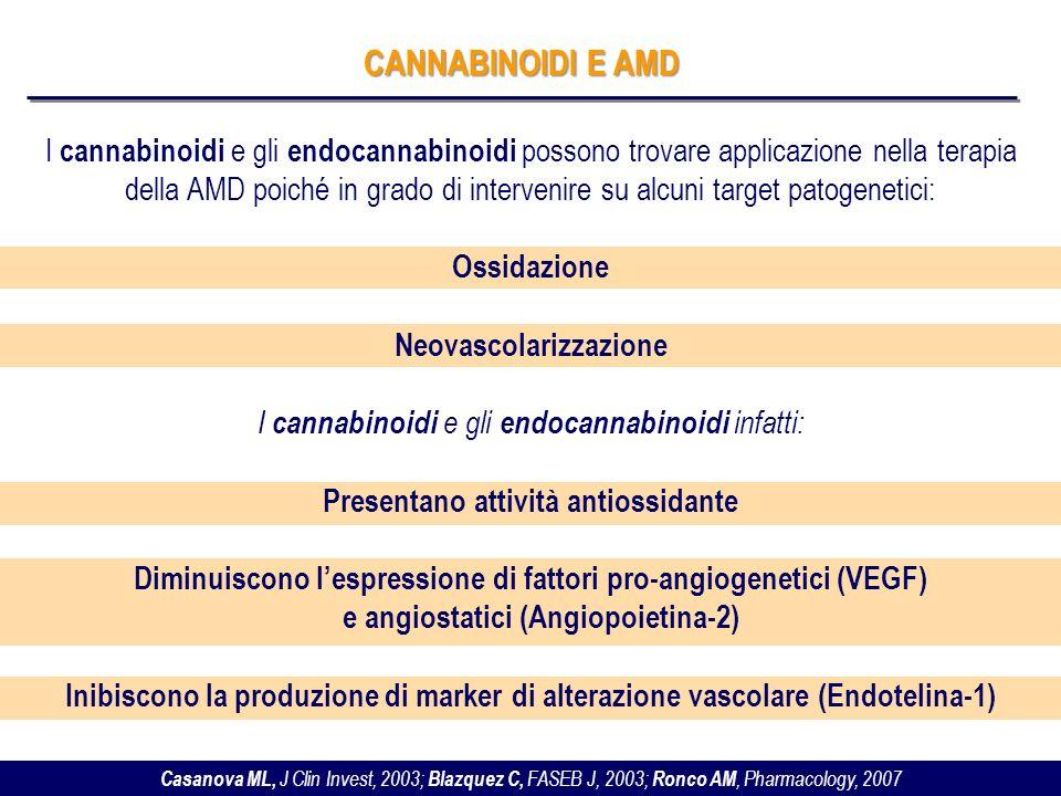 Neovascolarizzazione Presentano attività antiossidante