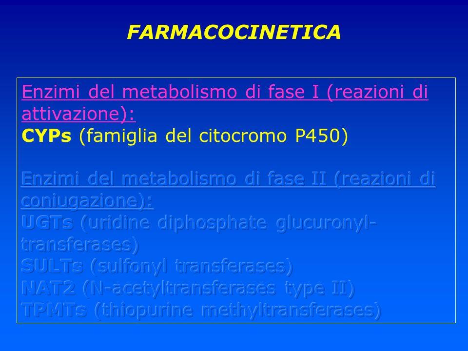 FARMACOCINETICA Enzimi del metabolismo di fase I (reazioni di attivazione): CYPs (famiglia del citocromo P450)