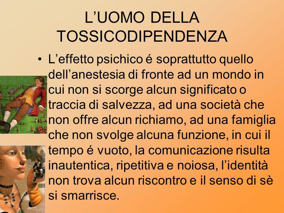 L'UOMO DELLA TOSSICODIPENDENZA