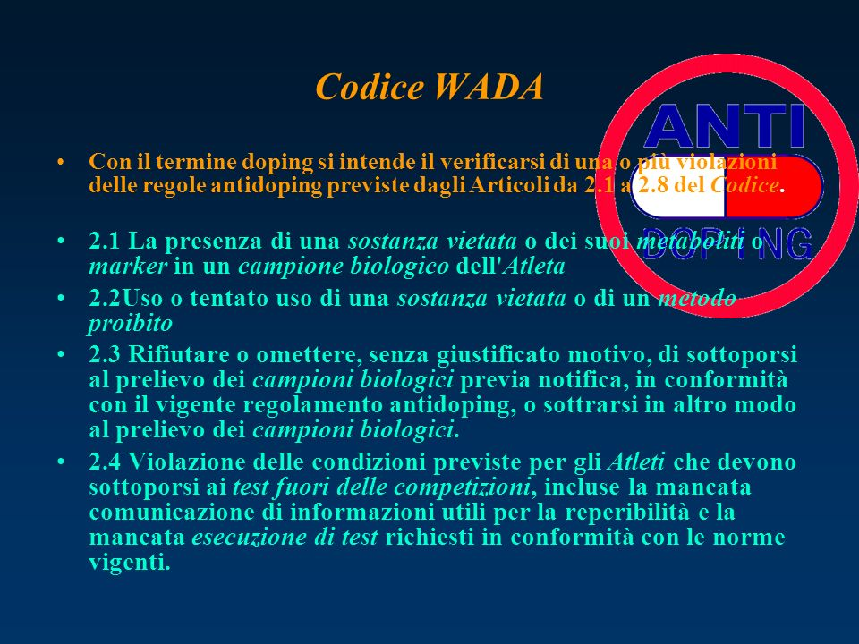 Codice WADA