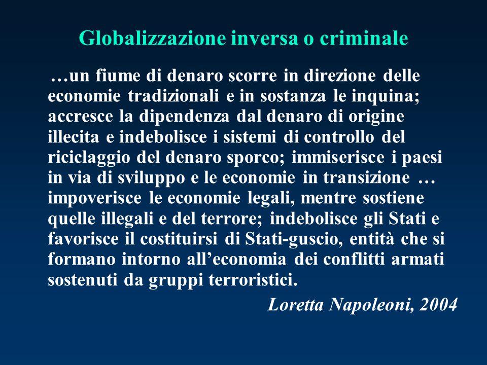 Globalizzazione inversa o criminale