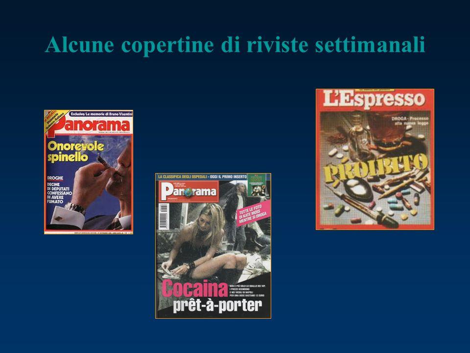 Alcune copertine di riviste settimanali
