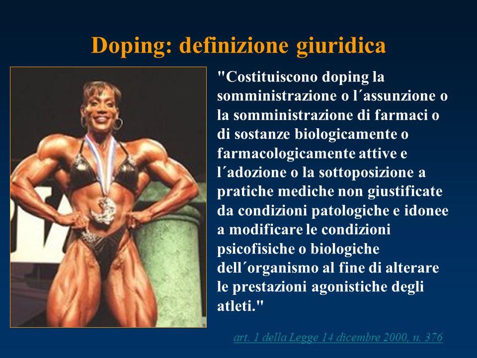 Doping: definizione giuridica
