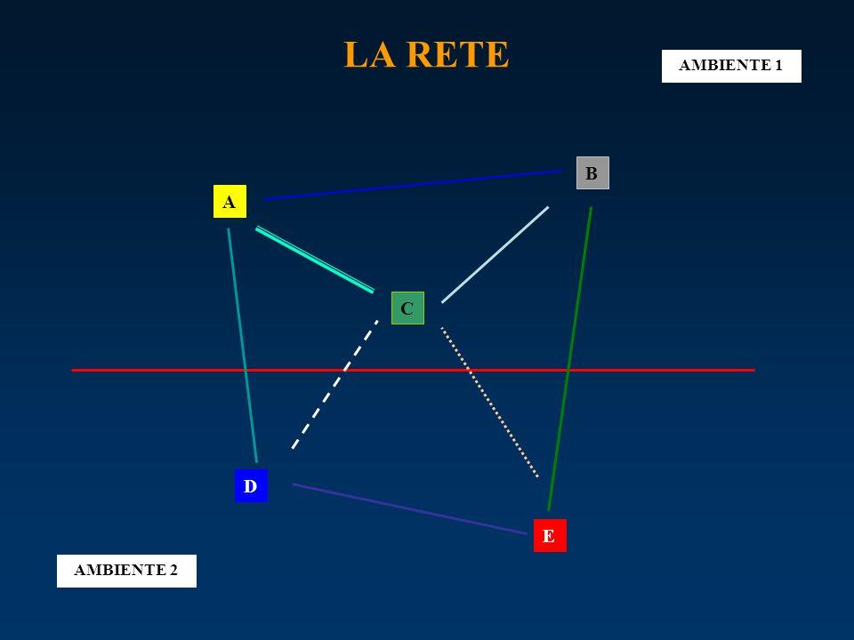 LA RETE AMBIENTE 1 B A C D E AMBIENTE 2