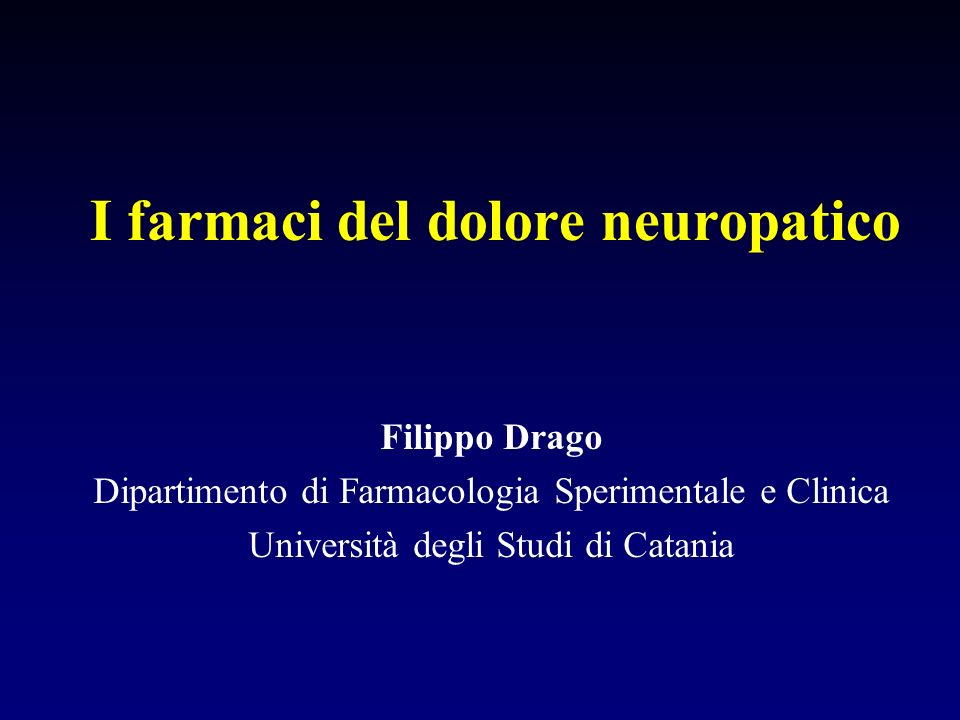 I farmaci del dolore neuropatico