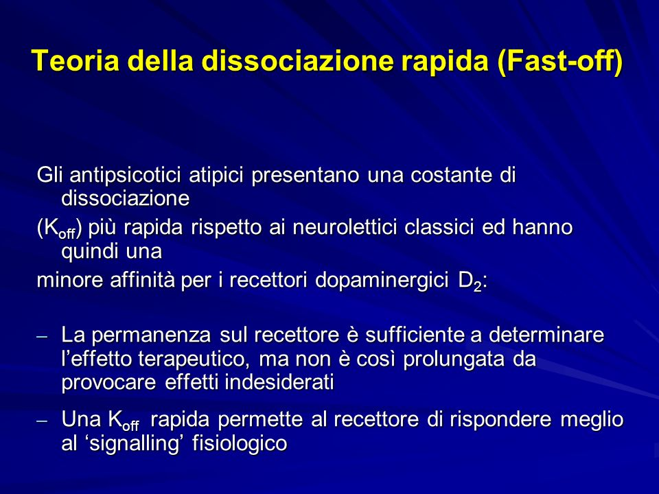Teoria della dissociazione rapida (Fast-off)