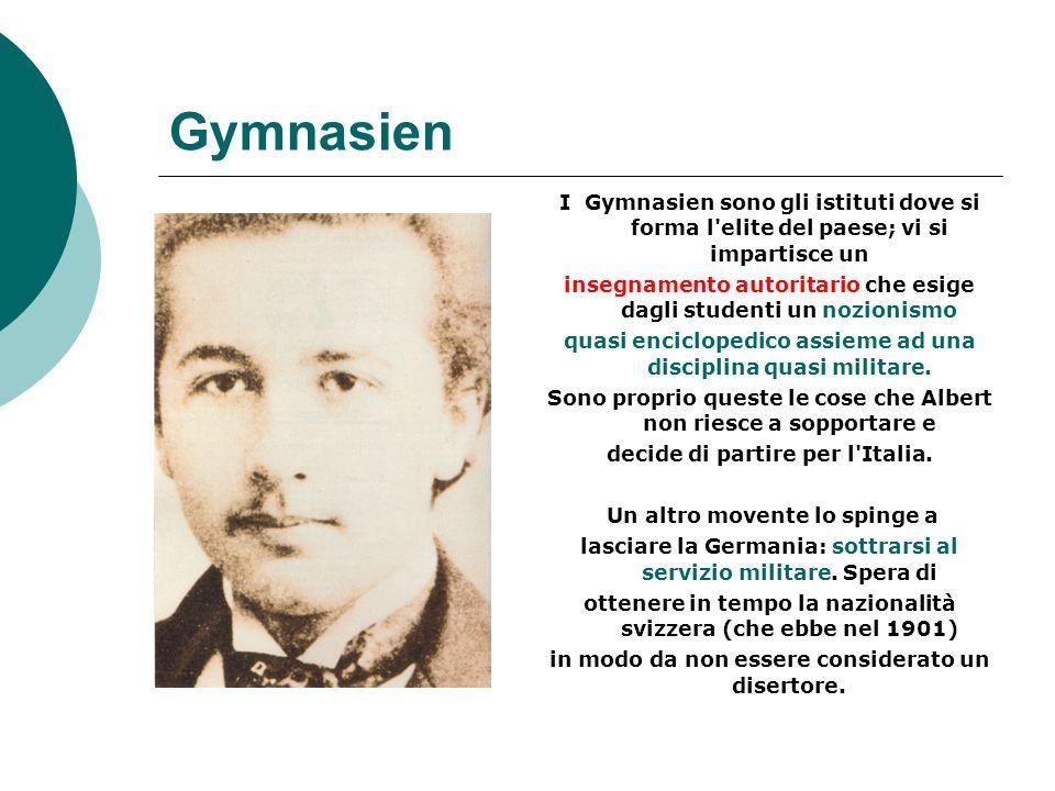 Gymnasien I Gymnasien sono gli istituti dove si forma l elite del paese; vi si impartisce un.