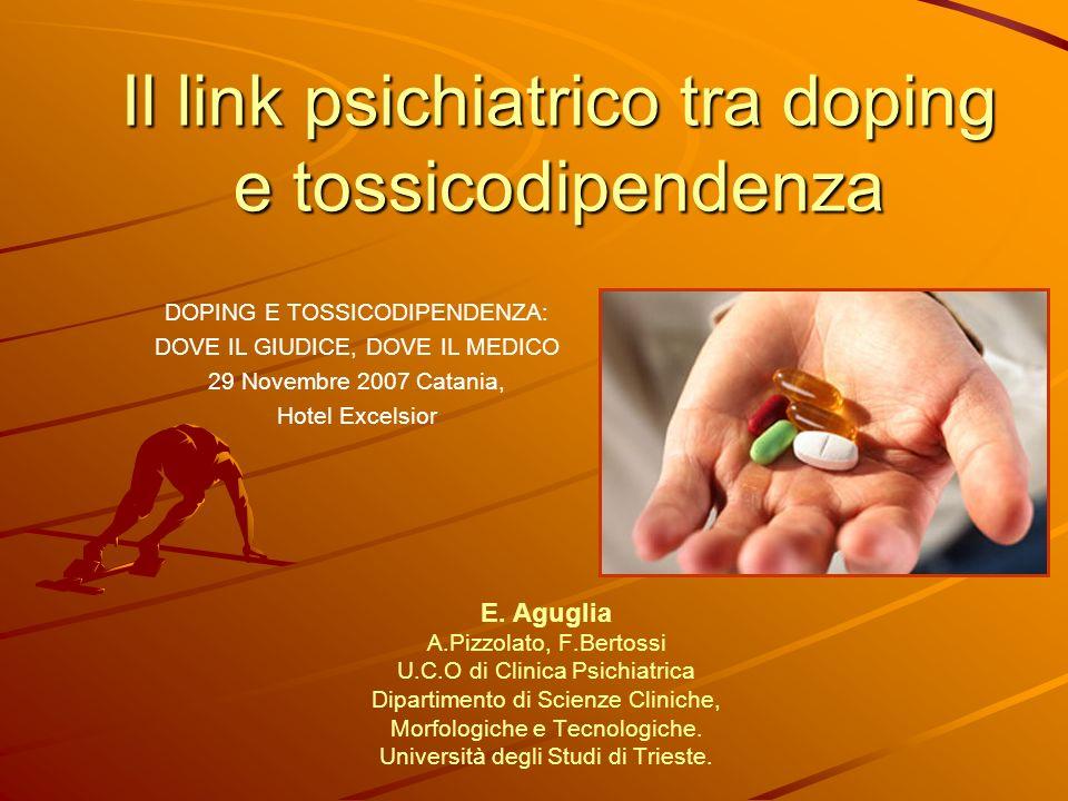 Il link psichiatrico tra doping e tossicodipendenza