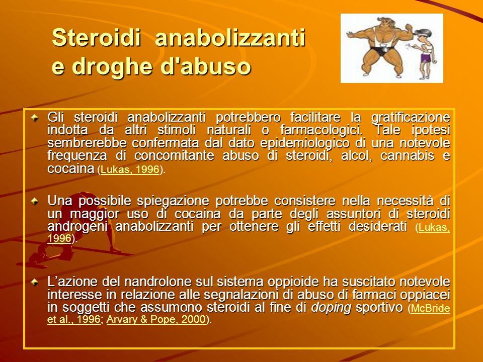 Steroidi anabolizzanti e droghe d abuso