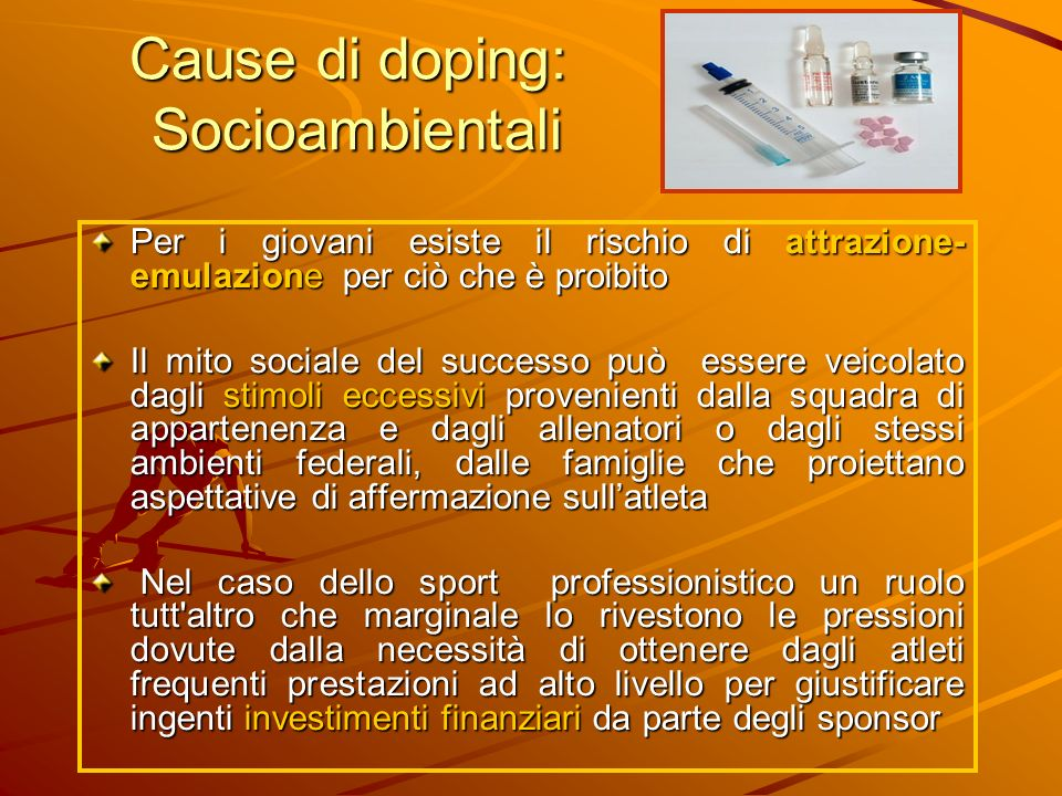 Cause di doping: Socioambientali