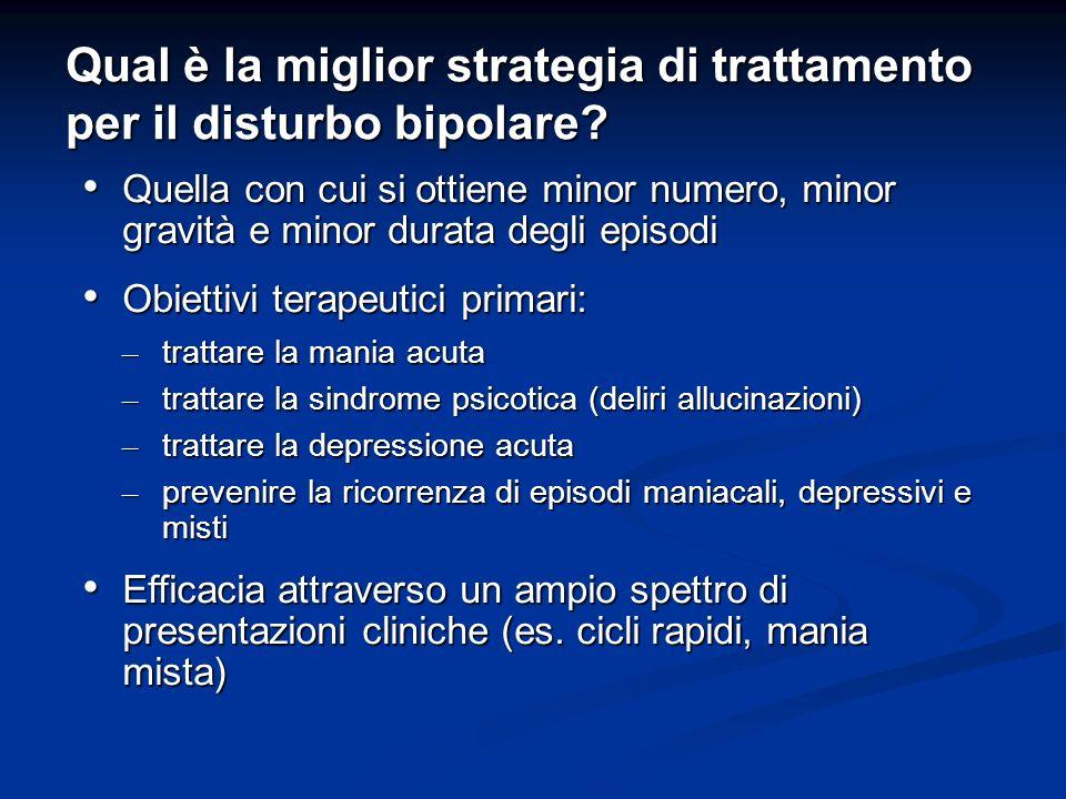 Qual è la miglior strategia di trattamento per il disturbo bipolare