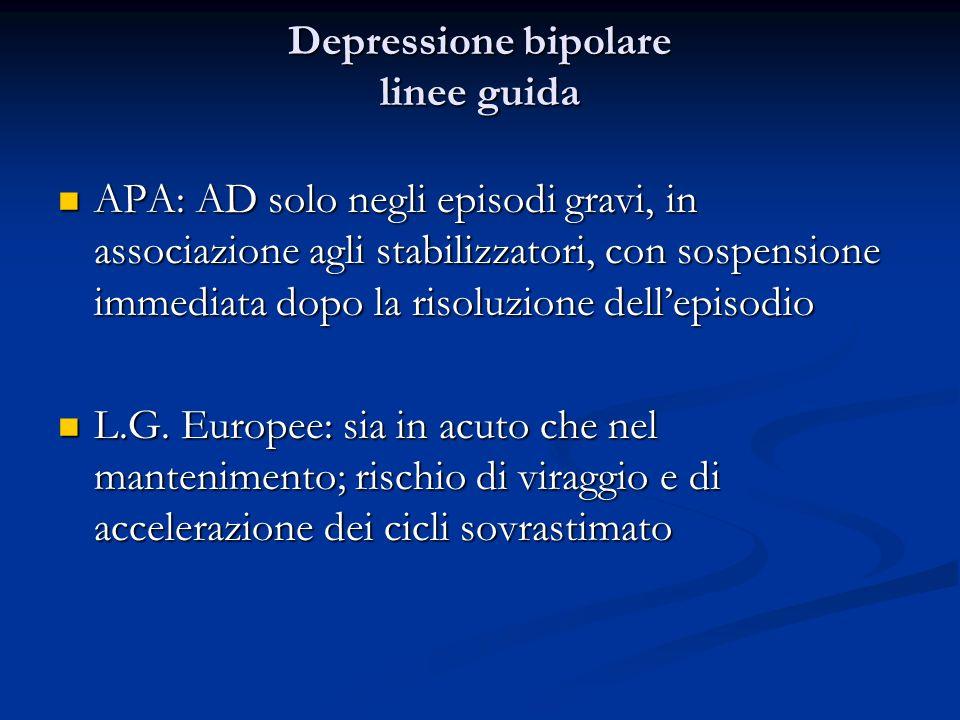 Depressione bipolare linee guida