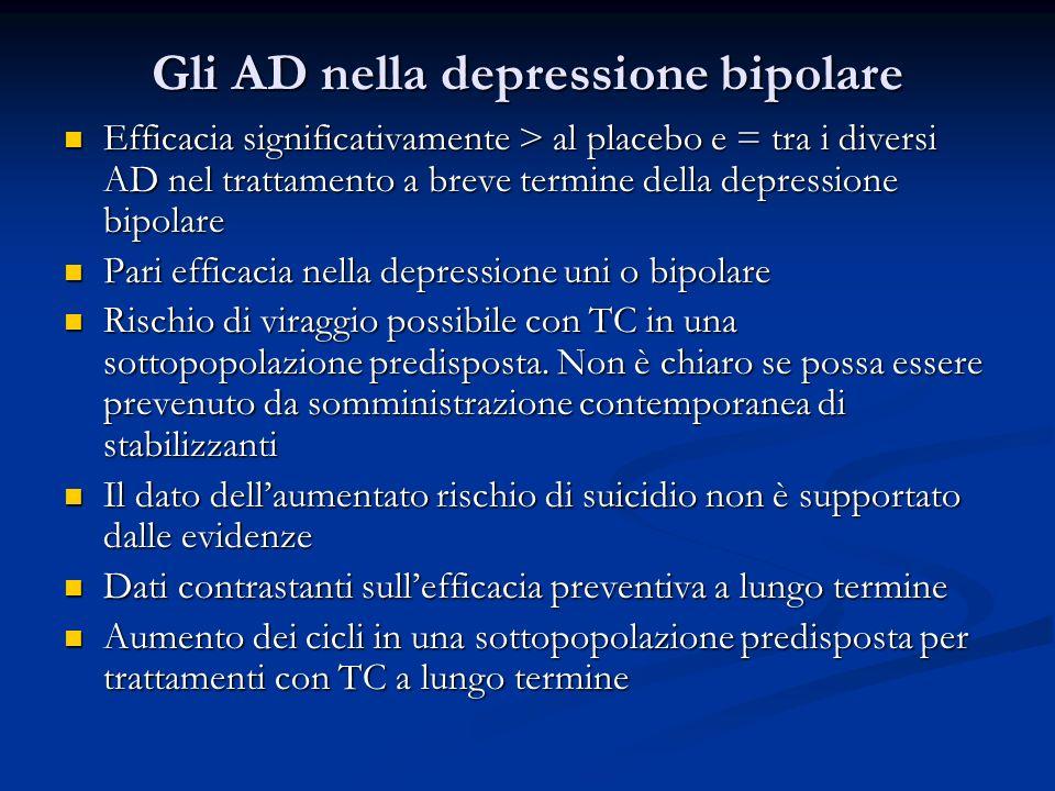 Gli AD nella depressione bipolare