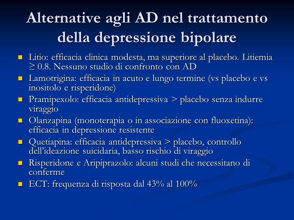 Alternative agli AD nel trattamento della depressione bipolare