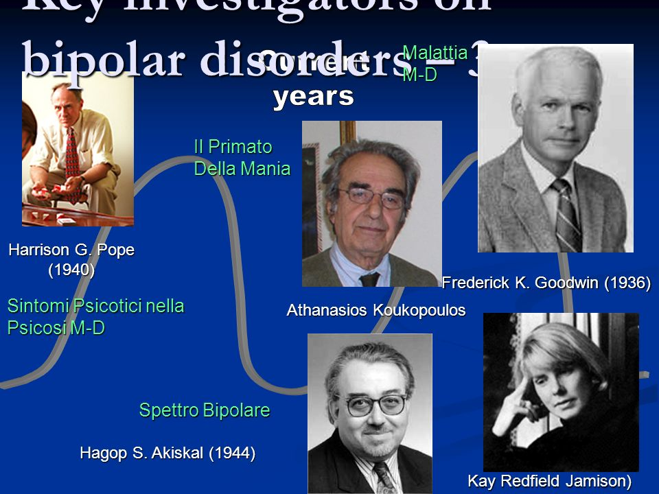 Key investigators on bipolar disorders – 3