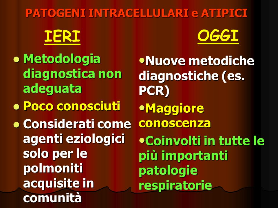 PATOGENI INTRACELLULARI e ATIPICI