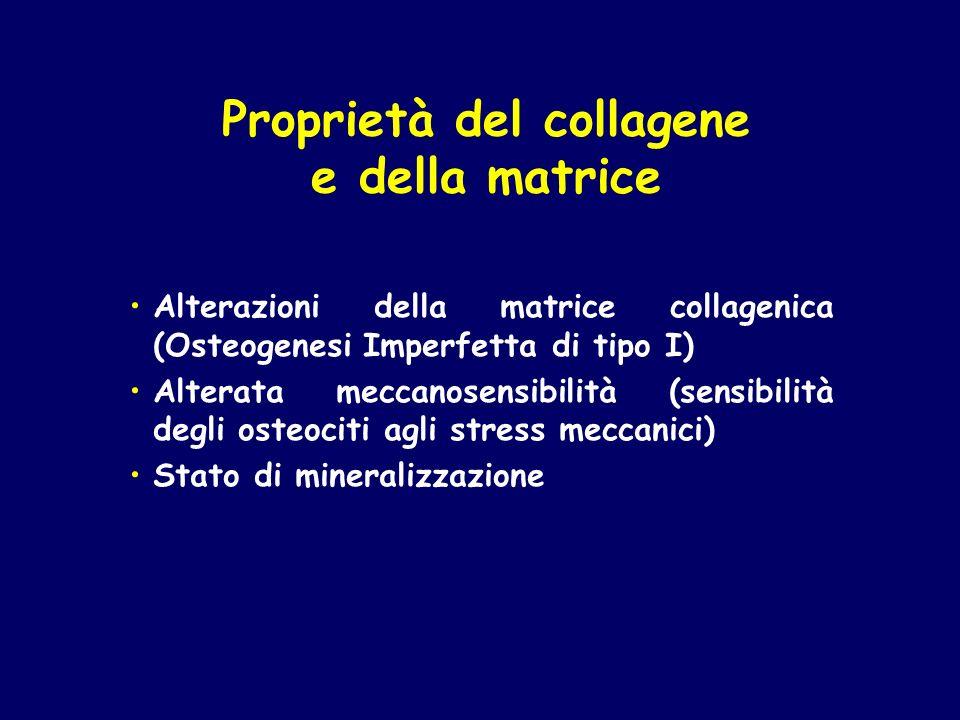Proprietà del collagene e della matrice