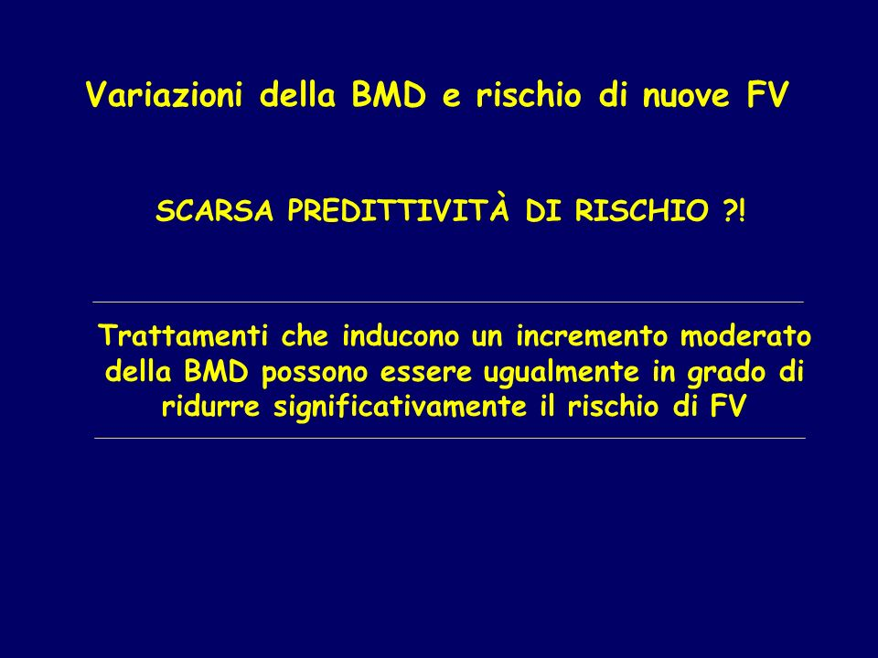 SCARSA PREDITTIVITÀ DI RISCHIO !