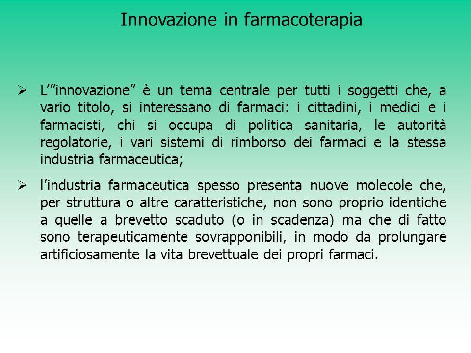 Innovazione in farmacoterapia