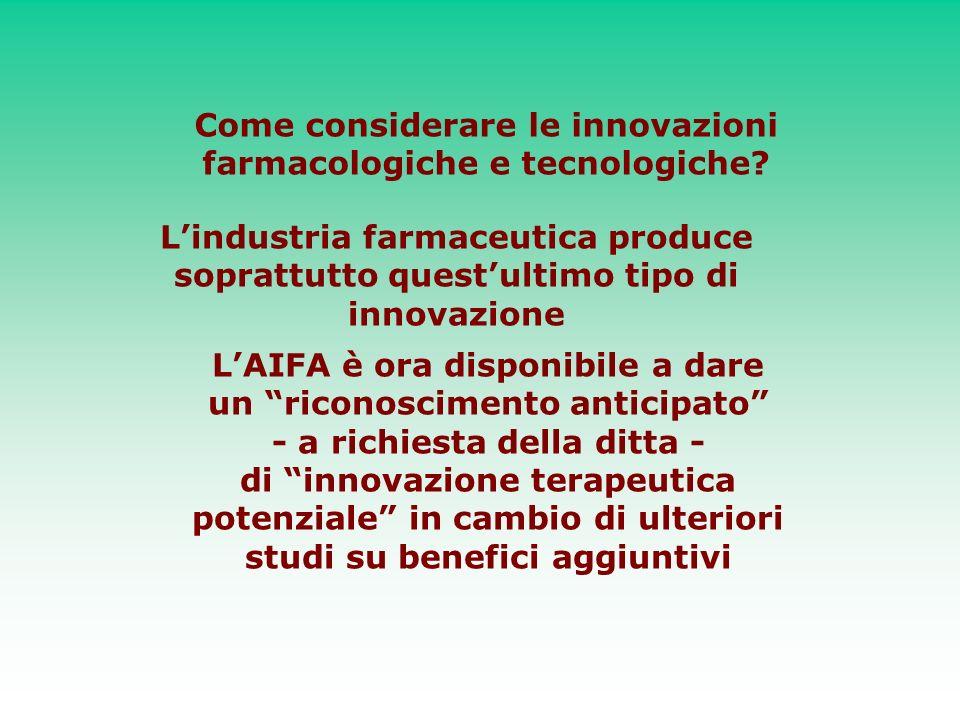 Come considerare le innovazioni farmacologiche e tecnologiche