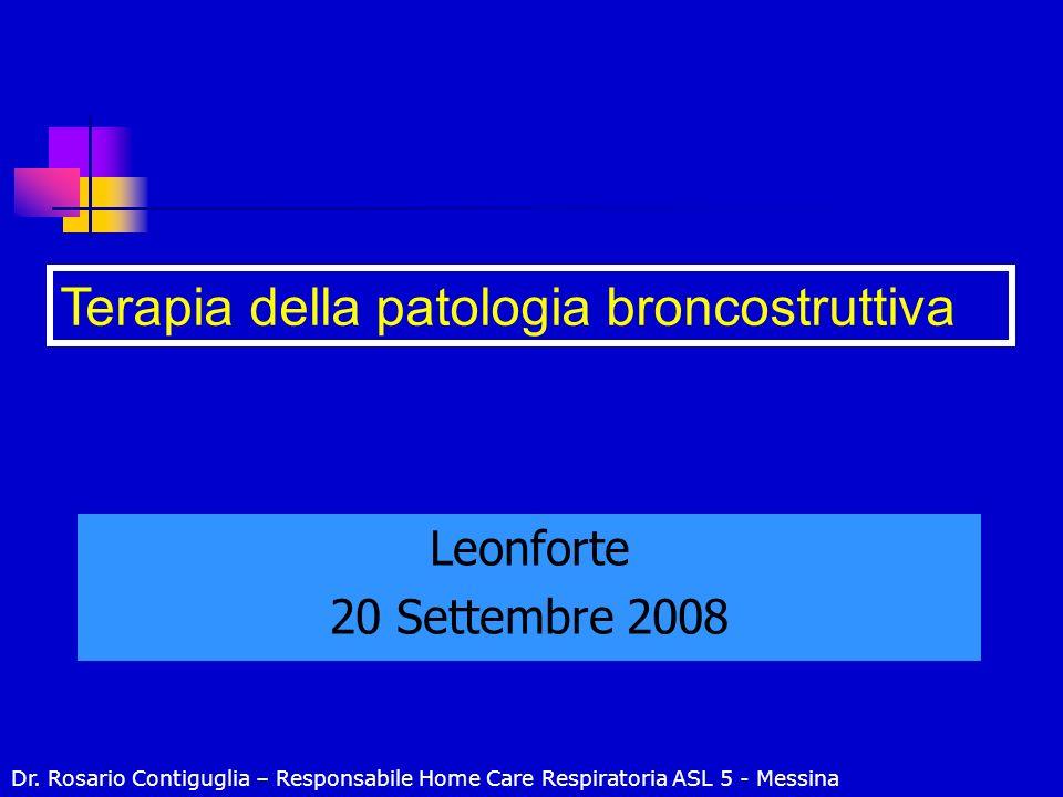 Terapia della patologia broncostruttiva