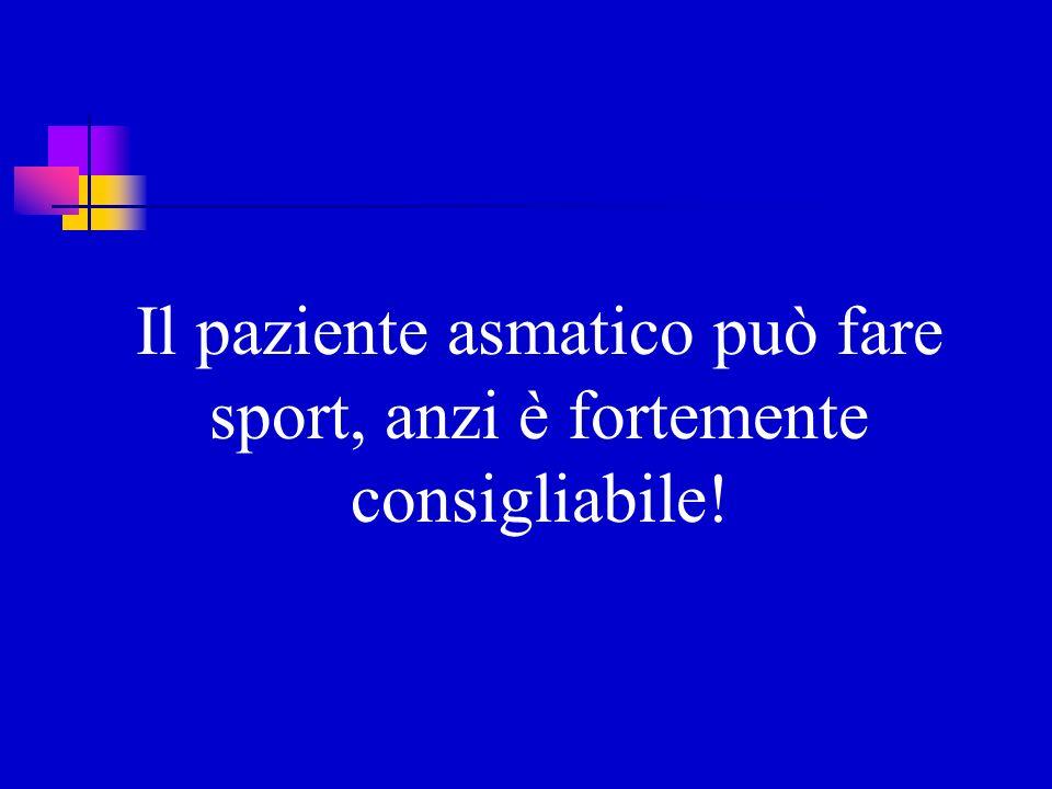 Il paziente asmatico può fare sport, anzi è fortemente consigliabile!