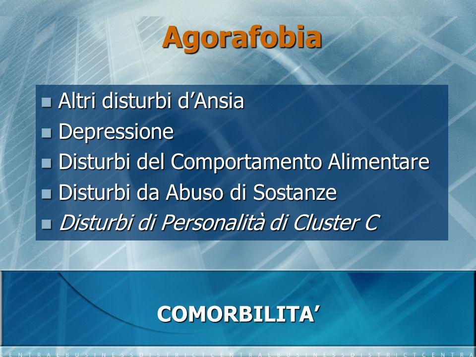 Agorafobia Altri disturbi d'Ansia Depressione