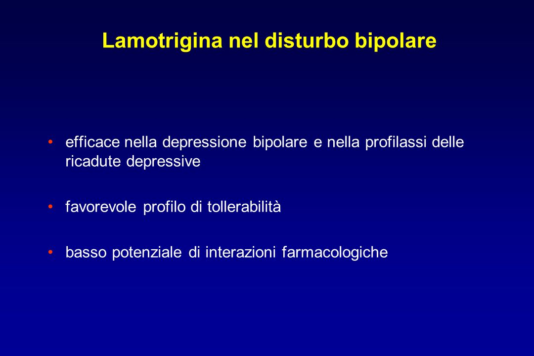Lamotrigina nel disturbo bipolare