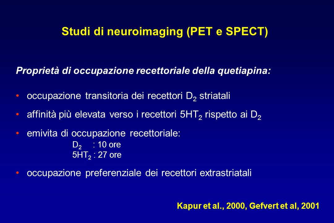 Studi di neuroimaging (PET e SPECT)