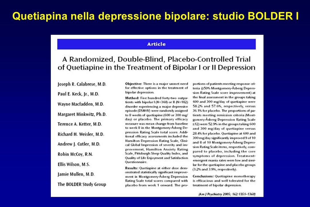 Quetiapina nella depressione bipolare: studio BOLDER I