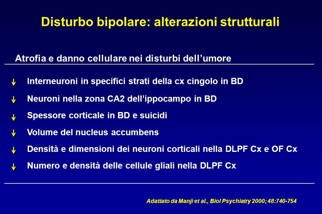 Disturbo bipolare: alterazioni strutturali