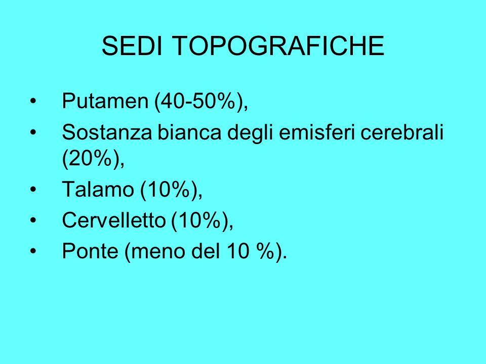 SEDI TOPOGRAFICHE Putamen (40-50%),