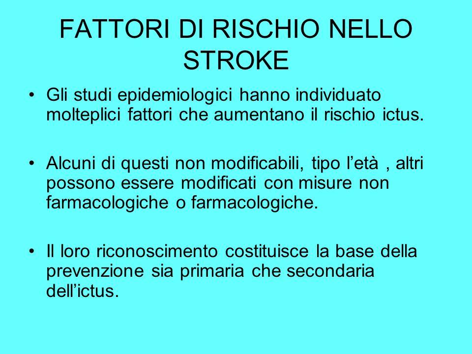 FATTORI DI RISCHIO NELLO STROKE