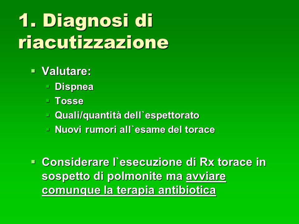 1. Diagnosi di riacutizzazione