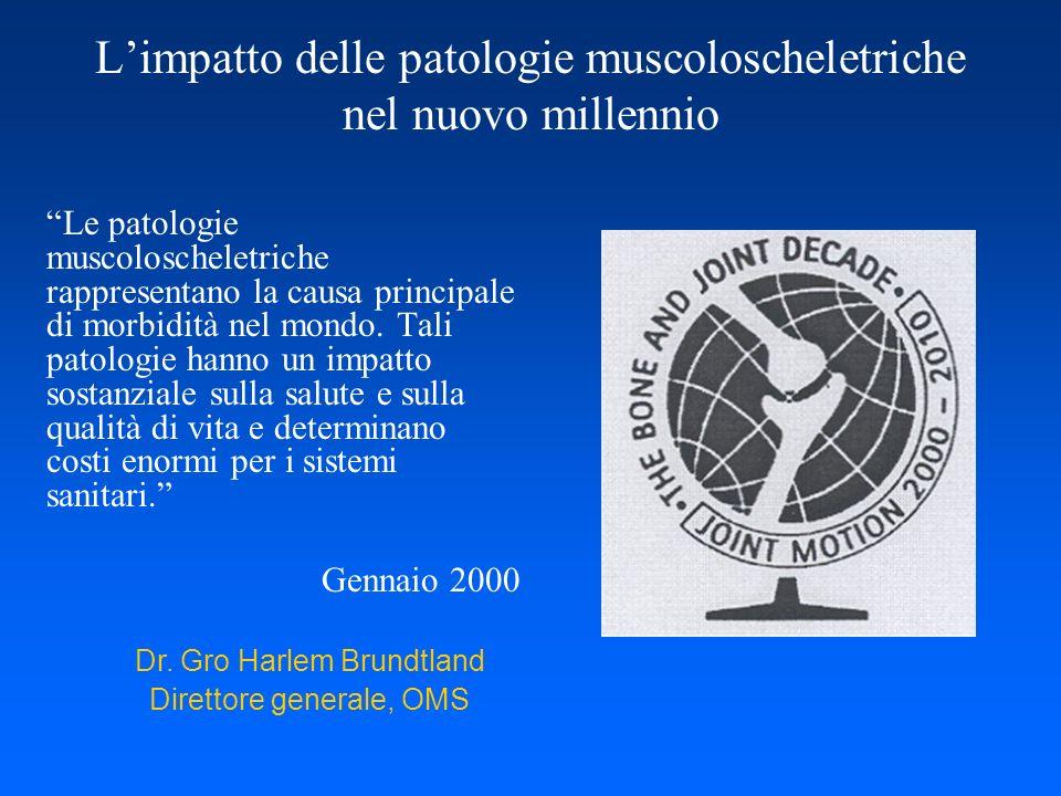 L'impatto delle patologie muscoloscheletriche nel nuovo millennio