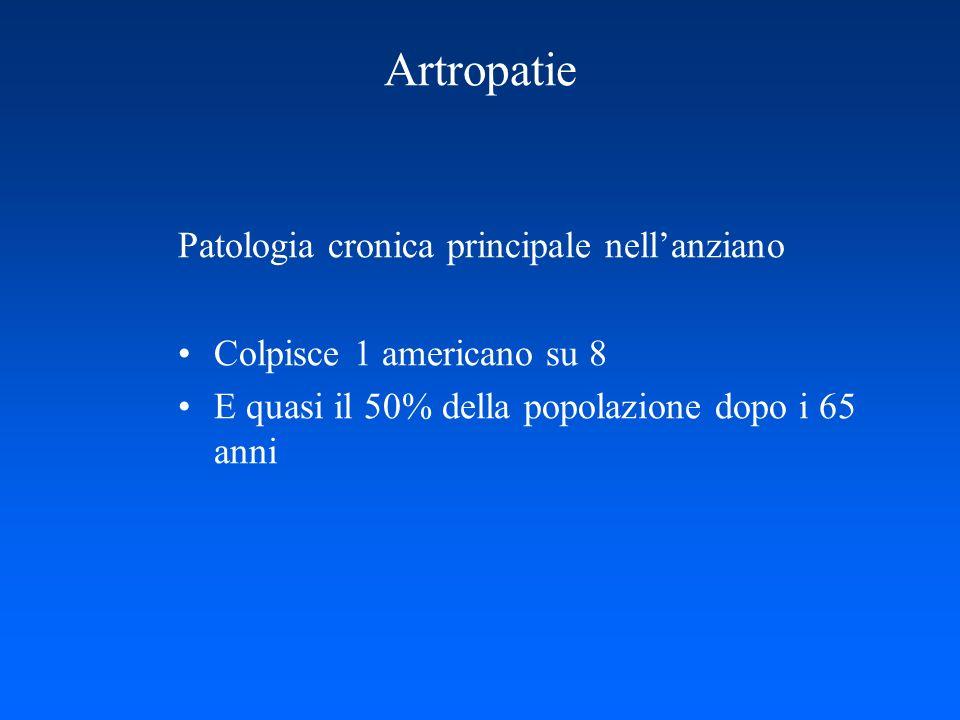 Artropatie Patologia cronica principale nell'anziano