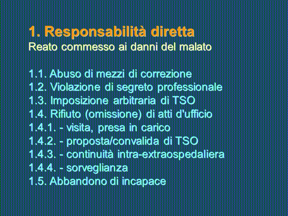 1. Responsabilità diretta
