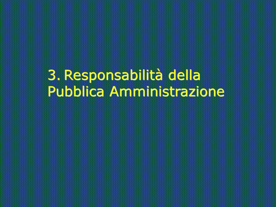 3. Responsabilità della Pubblica Amministrazione