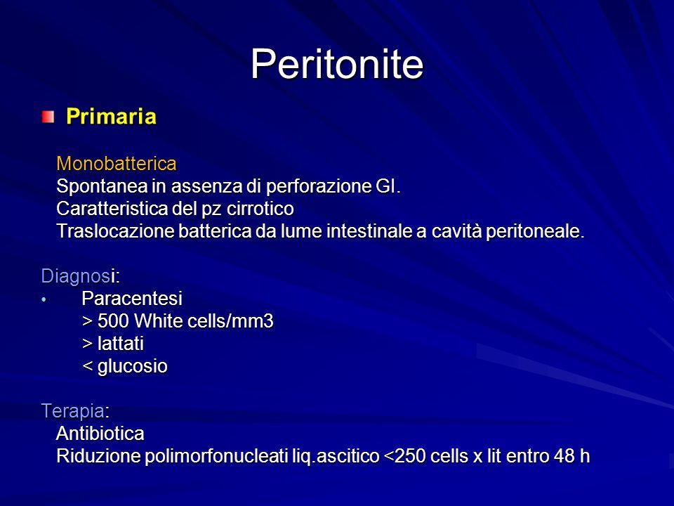 Peritonite Primaria Monobatterica