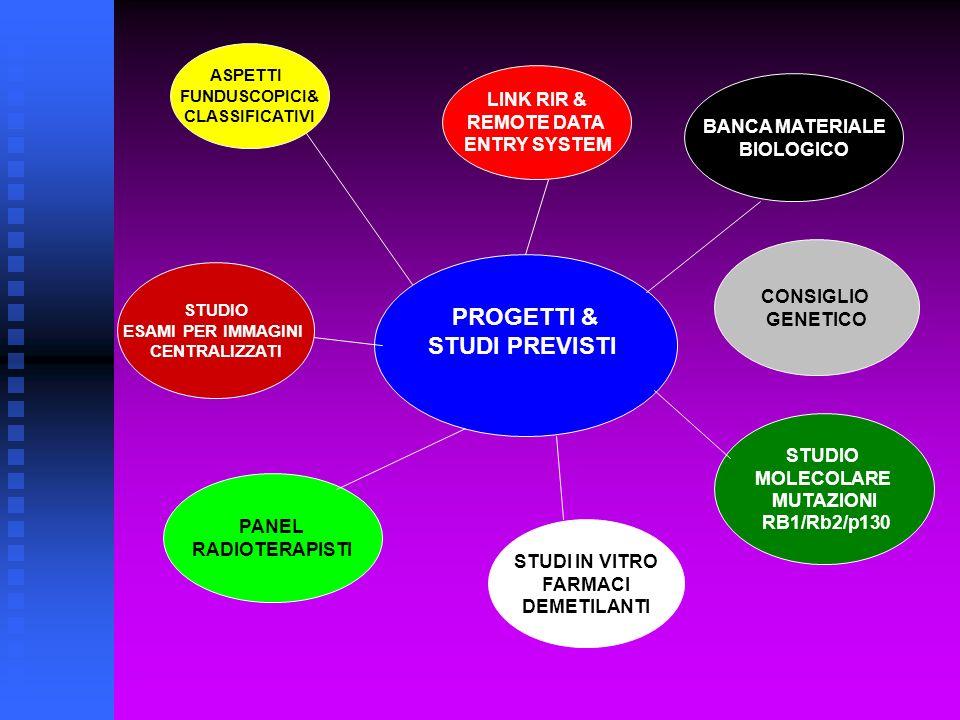 PROGETTI & STUDI PREVISTI