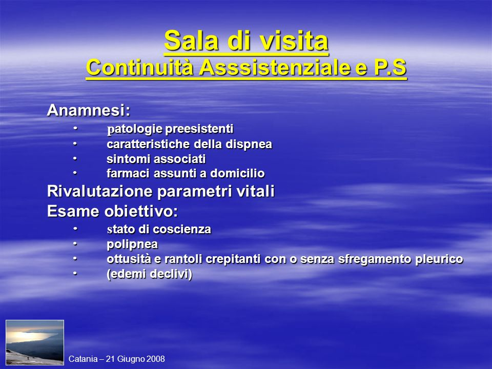 Sala di visita Continuità Asssistenziale e P.S