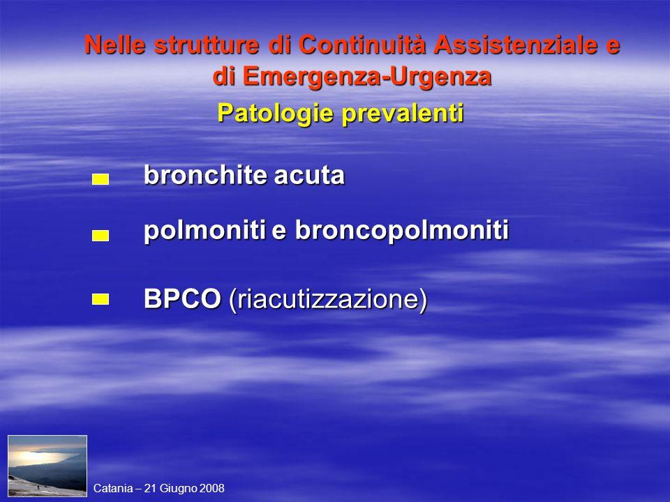 Nelle strutture di Continuità Assistenziale e di Emergenza-Urgenza