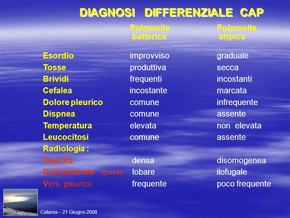 DIAGNOSI DIFFERENZIALE CAP