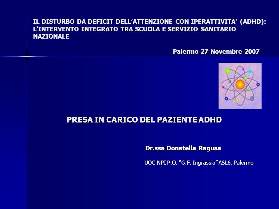 PRESA IN CARICO DEL PAZIENTE ADHD