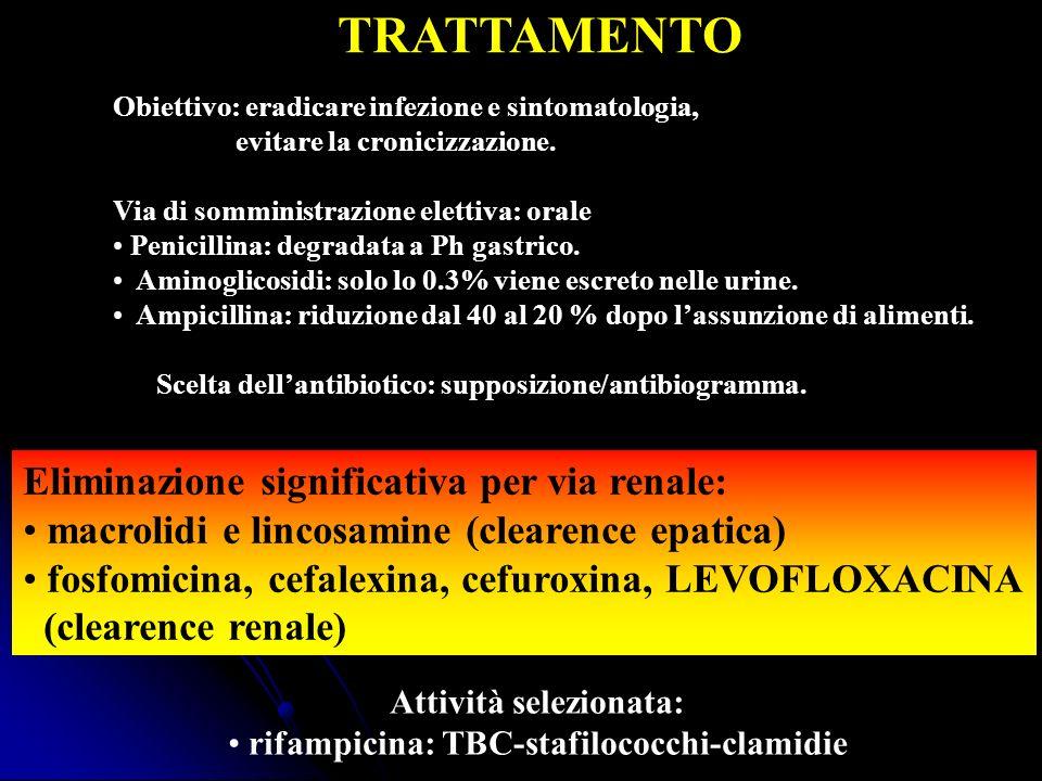Attività selezionata: rifampicina: TBC-stafilococchi-clamidie