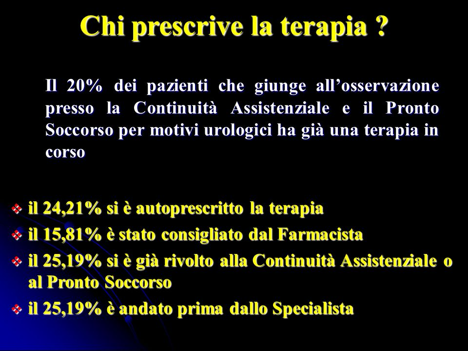 Chi prescrive la terapia