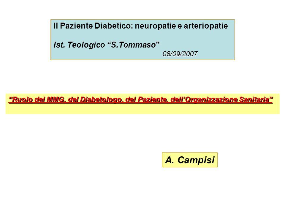 A. Campisi Il Paziente Diabetico: neuropatie e arteriopatie