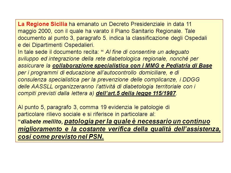 La Regione Sicilia ha emanato un Decreto Presidenziale in data 11