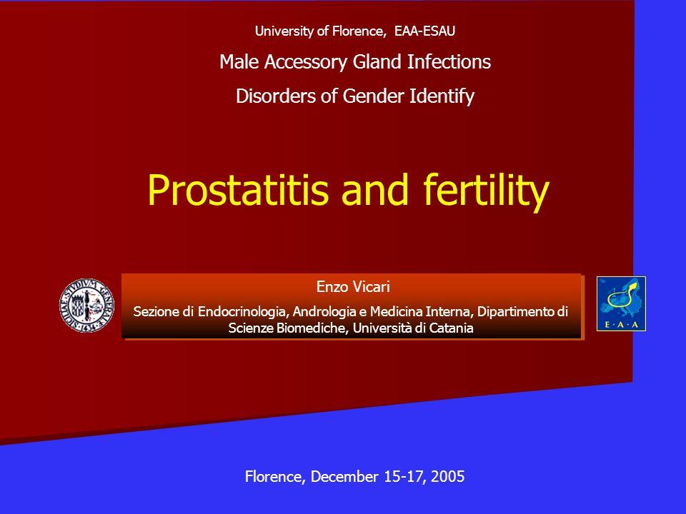 Prostatitis and fertility