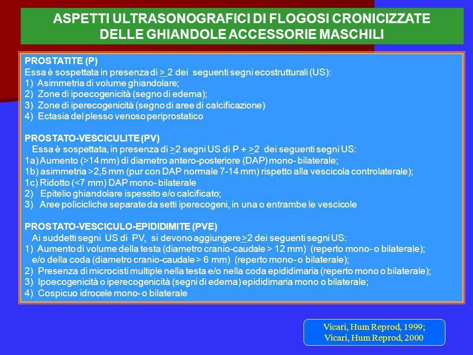 ASPETTI ULTRASONOGRAFICI DI FLOGOSI CRONICIZZATE